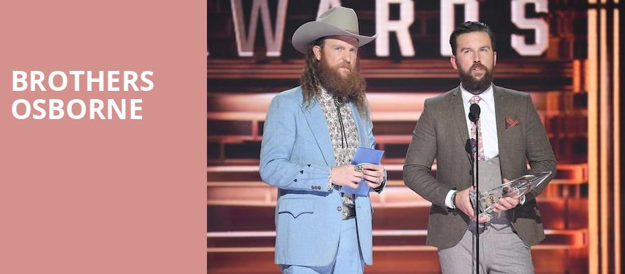 Brothers Osborne, MGM Grand Theater, Providence